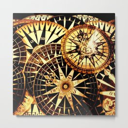 Northern Compass Metal Print