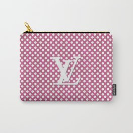 LV Polka Pattern Pink Carry-All Pouch