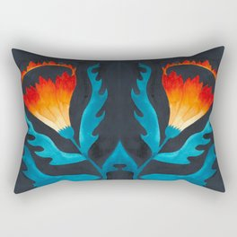 Floral symmetry 2. Rectangular Pillow