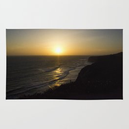 Cliff Top Sunset Rug