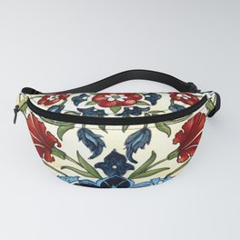 Mediterranean Tile with Carnations Fanny Pack