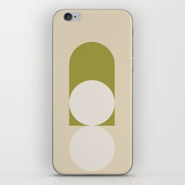 Contemporary Composition 05 - Golden Lime iPhone Skin