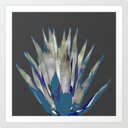 BLUE-GREY AGAVE DESERT CACTUS Art Print