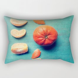 Orange Wedge Rectangular Pillow