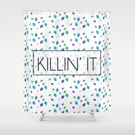 Killin' It Confetti Shower Curtain