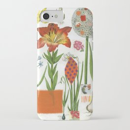 Orange Lily Botanical iPhone Case