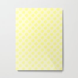 Electric Yellow on Cream Yellow Spirals Metal Print