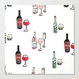 #DrinkWineDay Pattern Canvas Print