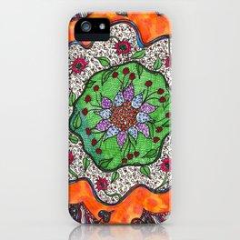 Flowertangle iPhone Case