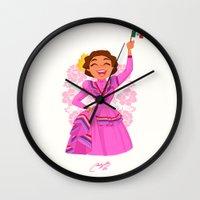 mexico Wall Clocks featuring Mexico  by Melissa Ballesteros Parada