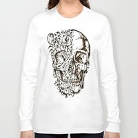skeleton Long Sleeve T-shirts featuring Skeleton by ViviRajski