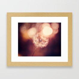Pure Sunshine Dandelion Framed Art Print