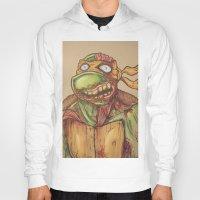 ninja turtle Hoodies featuring zombie ninja turtle by mileshustonart