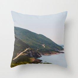 Cabot Trail in Cape Breton Nova Scotia Throw Pillow