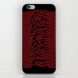 Joy Division - Unknown Pleasures [Red Lines] iPhone Skin