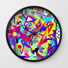 Bomb of Color Wall Clock