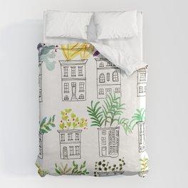 Row House Planters Duvet Cover