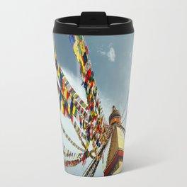 Boudhanath stupa in Nepal Travel Mug