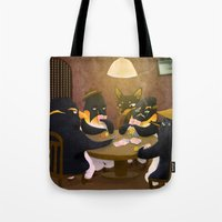 poker Tote Bags featuring Poker by happymiaow