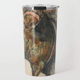 Racehorse Watercolor Travel Mug
