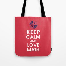 Keep Calm and Love Math Tote Bag