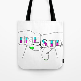 zinester knuckles (in colour) Tote Bag