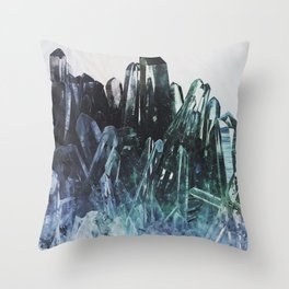 Ice quartz Throw Pillow
