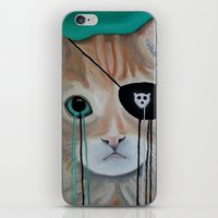kit king iPhone & iPod Skins featuring Kit Furry by Prince Pat