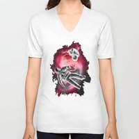 illusion V-neck T-shirts featuring Illusion by Rilke Guillén