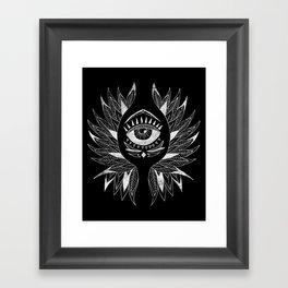 Wing & eye Framed Art Print