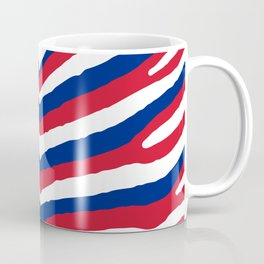 UK British Union Jack Red White and Blue Zebra Stripes Coffee Mug