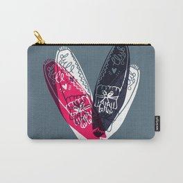 moccasin red and blue Carry-All Pouch