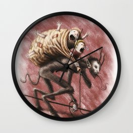 Krampus (with text) Wall Clock