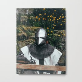 Medieval Knight in Full Armor - Warrior of the Middle Ages Metal Print