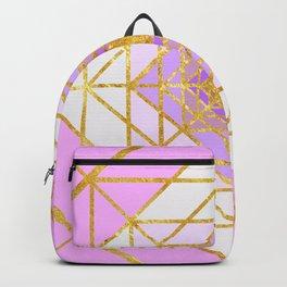 Gold Plated Preppy Pink Mandala Backpack