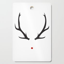 Minimalist Rudolph with red nose Cutting Board