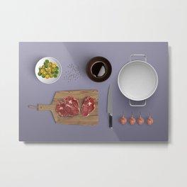 Cook Prep Metal Print