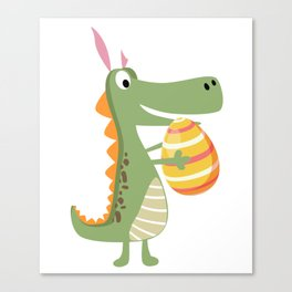 Easter Egg Dinosaur Canvas Print