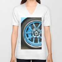 lamborghini V-neck T-shirts featuring Lamborghini by Captive Images Photography