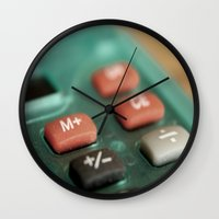 math Wall Clocks featuring Math by Big Tortoise Art (Art by JasonKoelliker)