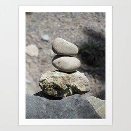 Balance Stacked Rocks Yellowstone National Park Art Print