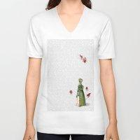 pride and prejudice V-neck T-shirts featuring Pride & Prejudice - Zombified by Studio Fibonacci