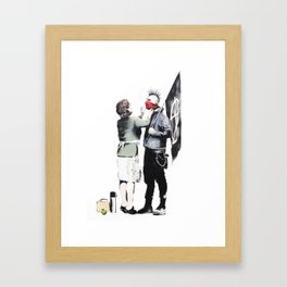 Banksy, Punk with mother Framed Art Print