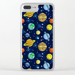 Space and Planets Clear iPhone Case