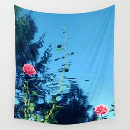 Rose Ripple Reflection Wall Tapestry