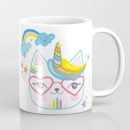 caticorn unicorn crazy cat lady unicat gift kawaii tee shirt Coffee Mug