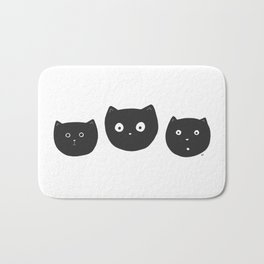 Cat Faces Bath Mat