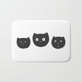 Cat Faces Bath Mat