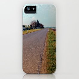 Country road, cloudy sky, fresh colors | landscape photography iPhone Case