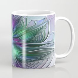 Floral Energy Colorful Abstract Fractal Art Flower Coffee Mug